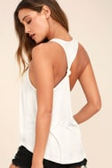 Knot So Basic White Tank Top 1