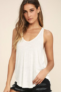 Knot So Basic White Tank Top 3