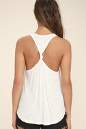 Knot So Basic White Tank Top 4