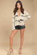 California Current Beige Tie-Dye Long Sleeve Top 2