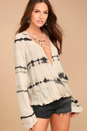 California Current Beige Tie-Dye Long Sleeve Top 3