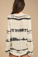 California Current Beige Tie-Dye Long Sleeve Top 4