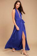 Magical Movement Royal Blue Wrap Maxi Dress 2