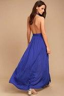 Magical Movement Royal Blue Wrap Maxi Dress 3