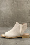 Musse & Cloud Ciara White Leather Peep-Toe Booties 1