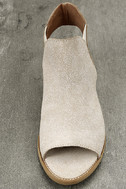 Musse & Cloud Ciara White Leather Peep-Toe Booties 5