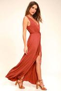 Take a Cruise Rust Red Maxi Dress 2