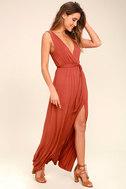 Take a Cruise Rust Red Maxi Dress 3