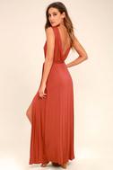 Take a Cruise Rust Red Maxi Dress 4