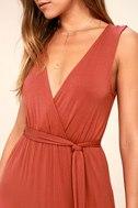 Take a Cruise Rust Red Maxi Dress 5