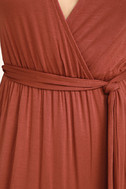 Take a Cruise Rust Red Maxi Dress 6