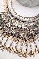 Saharan Stunner Gold Statement Necklace 2