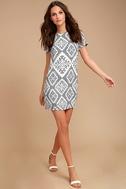 Give Me a Print Slate Grey Print Shift Dress 2