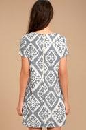 Give Me a Print Slate Grey Print Shift Dress 4