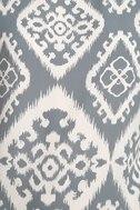 Give Me a Print Slate Grey Print Shift Dress 6