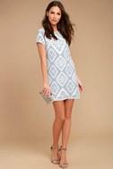 Give Me a Print Light Blue Print Shift Dress 2