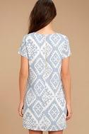 Give Me a Print Light Blue Print Shift Dress 4