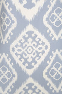 Give Me a Print Light Blue Print Shift Dress 6