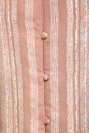 See You Smile Blush Pink Striped Romper 6