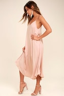 Lasting Memories Blush Midi Dress 2