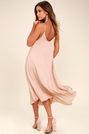 Lasting Memories Blush Midi Dress 3