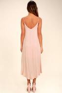 Lasting Memories Blush Midi Dress 4