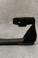 Jocasa Black Suede Fringe Flat Sandals 7