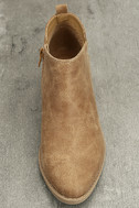 Marzia Camel Distressed Ankle Booties 5
