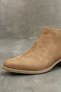 Marzia Camel Distressed Ankle Booties 6