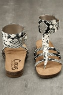 Circus by Sam Edelman Katie Cashmere Snake Ankle Strap Sandals 3