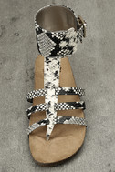 Circus by Sam Edelman Katie Cashmere Snake Ankle Strap Sandals 5