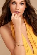 Current Events Gold Cuff Bracelet 1