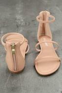 Lorelei Nude Ankle Strap Flat Sandals 3