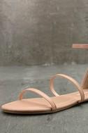 Lorelei Nude Ankle Strap Flat Sandals 6