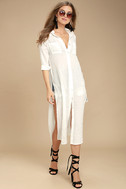 Sweet Cottage White Long Sleeve Cover-Up 3