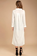Sweet Cottage White Long Sleeve Cover-Up 4
