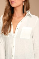 Sweet Cottage White Long Sleeve Cover-Up 5