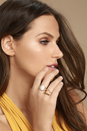 Study the Stars Gold and White Ring Set 1