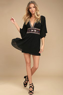 Reign Check Black Embroidered Dress 2