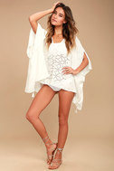 Sarita White Lace Kaftan Cover-Up 2