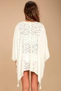 Sarita White Lace Kaftan Cover-Up 4