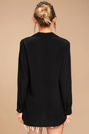Once in a Lifetime Black Lace-Up Top 4