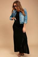 RVCA Hazel Black Backless Maxi Dress 2