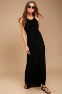RVCA Hazel Black Backless Maxi Dress 3