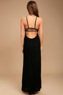 RVCA Hazel Black Backless Maxi Dress 4