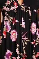 Petal Prancer Purple Floral Print Halter Jumpsuit 6