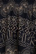 Southbound Navy Blue Print Shorts 6