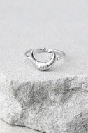 Crescent From Above Silver Ring 2
