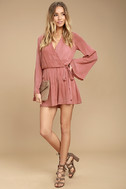 PPLA Pilar Rusty Rose Long Sleeve Romper 2