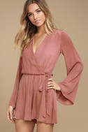 PPLA Pilar Rusty Rose Long Sleeve Romper 3